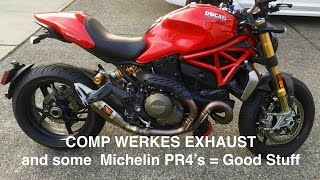 getlinkyoutube.com-NBFC - Ducati Monster 1200S blog #34 - Competition Werkes and Michelin PR4's