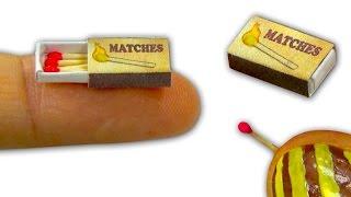 getlinkyoutube.com-Miniature doll matchbox and tiny matches DIY - Tutorial - YolandaMeow♡