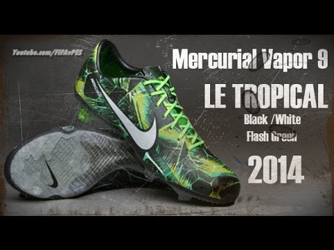 Nike Mercurial Vapor 9 LE TROPICAL - Black / White / Flash Green Pes 2014