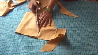 getlinkyoutube.com-Simple Design Blouse Cutting in Telugu
