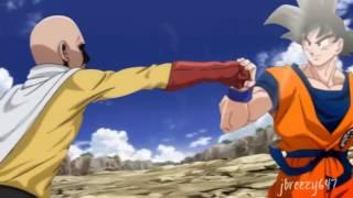 getlinkyoutube.com-Goku Catches Saitama's Punch