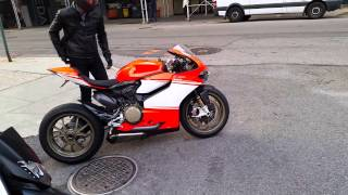 Ducati 1199 Superleggera start up & revs in NYC