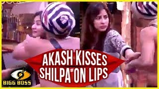 Shilpa SLAPS Akash For KISSING Her On LIPS   Bigg Boss 11