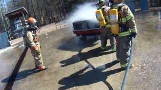 "getlinkyoutube.com-2013 FF1 ""Firefighter One"" ""Live Fire"" Car and Dumpster Fire Training"