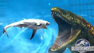 getlinkyoutube.com-Jurassic World The Game: Colossal update - THE LAGOON Coming Soon   The Aquatic Park