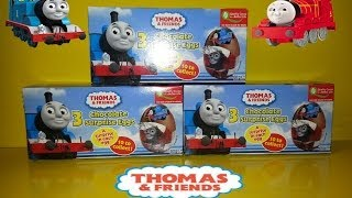 getlinkyoutube.com-9 Surprise Chocolate Eggs Thomas The Tank & Friends Unboxing