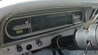 Crown Victoria gauges in a 71 F100 bumpside dashboard