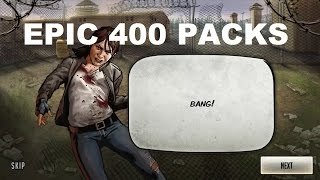 getlinkyoutube.com-Walking Dead : Road to Survival - EPIC 400 PACK OPENING - EPIC RESULTS!!