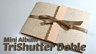 getlinkyoutube.com-Tutorial Scrapbook: Mini Album TriShutter Doble | Double TriShutter| Mundo@Party