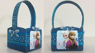 getlinkyoutube.com-DULCERO DE FROZEN. BOLSITA DE CARTON.