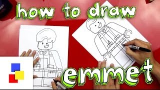 getlinkyoutube.com-How To Draw Emmet From The Lego Movie