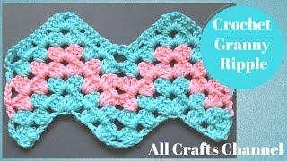 getlinkyoutube.com-How to Crochet Granny Ripple Pattern