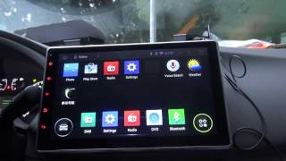 "getlinkyoutube.com-Review 10.1"" 2DIN headunit Android 4.4 Kit Kat  Car DVD Player DAB+ Radio WIFI Bluetooth Part 1"