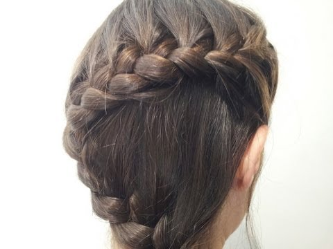 Peinado: Trenza en forma de