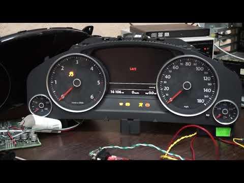 Включение панели приборов VW/Audi/Skoda на столе. VAG instrument cluster Switch-ON by CAN bus