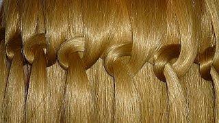getlinkyoutube.com-Коса Водопад. Причёска с узловым плетением для средних и длинных волос