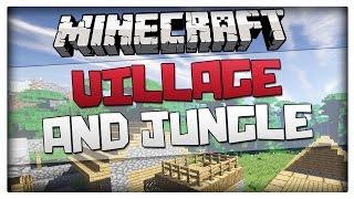 getlinkyoutube.com-Minecraft Seeds - Village and Jungle Biome at Spawn Seed! Minecraft 1.9 / 1.8
