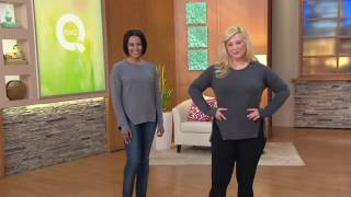 getlinkyoutube.com-Cuddl Duds Comfortwear French Terry Pullover Top with Zip Detail on QVC