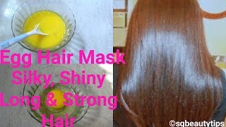 Egg Hair Mask | Protein Hair Pack | Get Silky, Shiny, Long & Strong Hair Naturally | Srestha Ghose