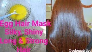 getlinkyoutube.com-Egg Hair Mask | Protein Hair Pack | Get Silky, Shiny, Long & Strong Hair Naturally | Srestha Ghose