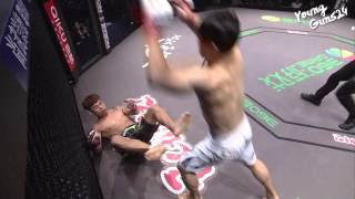 getlinkyoutube.com-ROAD FC YOUNGGUNS 024 9th -67.5kg Catchweight Match