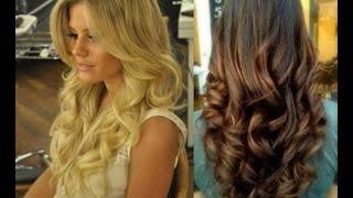 getlinkyoutube.com-Как сделать голливудские локоны .Big loose curls.Объемные локоны