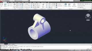 getlinkyoutube.com-AutoCAD 3D drawing of Machine Parts using AutoCAD 2011