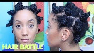 getlinkyoutube.com-Twisted Bantu Knots vs Regular Bantu Knots