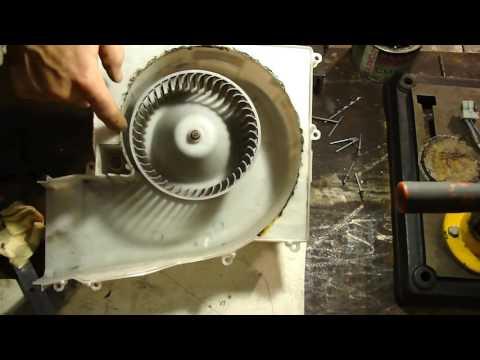 Как заменить,отремонтировать вентилятор отопителя, подробно. Nissan Sanni. Replacement heater fan.