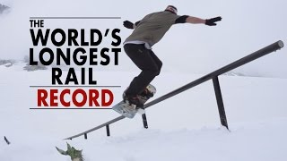 getlinkyoutube.com-Snowboarding the World's Longest Rail - 84m World Record!