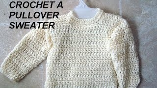 getlinkyoutube.com-UNISEX PULLOVER SWEATER, how to crochet, clothing, adults, children