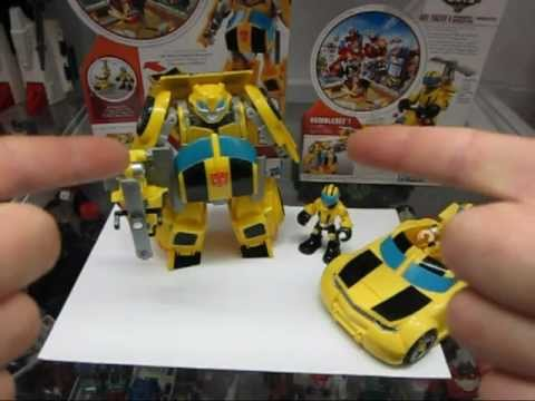 Protoman Reviews: Transformers Rescue Bots Bumblebee and Axe