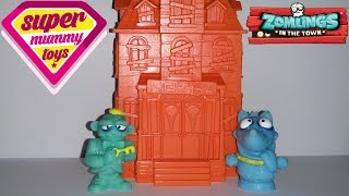 getlinkyoutube.com-Zomlings In The Town Magic Trick Hotel Toy Review