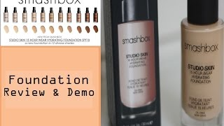 getlinkyoutube.com-Smashbox Studio Skin 15 Hour Wear Foundation Review & Demo (Normal/Dry Skin)