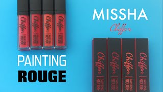 getlinkyoutube.com-[SWATCH + REVIEW] MISSHA PAINTING ROUGE CHIFFON