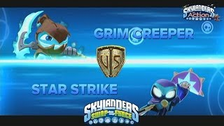 getlinkyoutube.com-Star Strike vs Grim Creeper Skylanders Swap Force Wettkampfarena / Wunschduell
