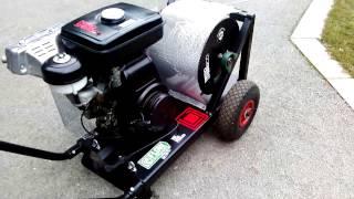 getlinkyoutube.com-Snowboard winch Honda G200 engine