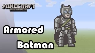 getlinkyoutube.com-Minecraft: Pixel Art Tutorial and Showcase: Armored Batman (Batman v Superman: Dawn of Justice)