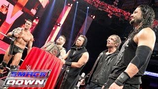 "getlinkyoutube.com-""Miz TV"" with guests Reigns, Ambrose, Del Rio & Owens: SmackDown, Nov. 19, 2015"