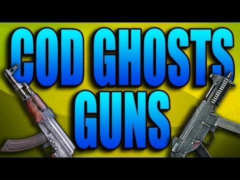 COD Ghosts Guns - AK47, UMP, Honey Badger! (Call of Duty Ghost Assault Rifles Submachine Weapons)