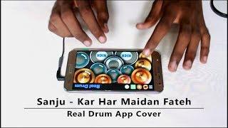 Kar Har Maidan Fateh | Sanju | Real Drum App Cover - By Vijay Yadavar. width=