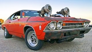 getlinkyoutube.com-Aussie TURBO OVERLOAD - 1300hp Twin Turbo CHEVELLE