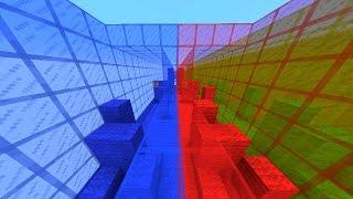 Minecraft RED vs BLUE Parkour - Colour Rush with Vikkstar & Lachlan (Minecraft Parkour)