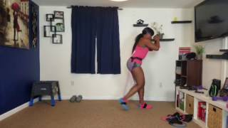 getlinkyoutube.com-Da Struggle using her Squat Belt! Follow along with her!