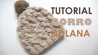 getlinkyoutube.com-DIY Tutorial GORRO de LANA (Patrones gratis)