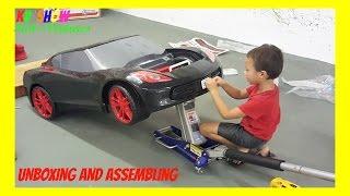 getlinkyoutube.com-Unboxing And Assembling The Power Wheel Corvette 6 Volt