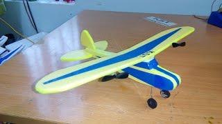getlinkyoutube.com-[Tutorial] DIY - How To Make Airplane J3 Cub MINI RC