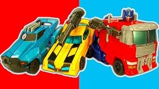getlinkyoutube.com-Transformers Optimus Prime Generations 9 Step Epic Rescue Bots Robot Toys