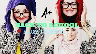 getlinkyoutube.com-Quick and Simple Hijab Tutorial ♡ Back To School! | Hijab Hills