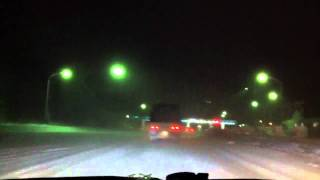 青森雪道高速道路で見た恐怖のジャックナイフ改トレーラースライド